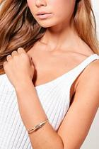 Boohoo Feather Detail Arm Cuff