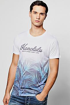 Boohoo Honolulu Bay Sublimation T Shirt