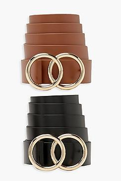 Boohoo Plus Double O-ring 2 Pack Belts