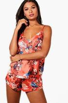 Boohoo Floral Print Cami & Shorts