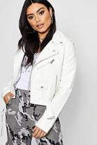 Boohoo Zoe Faux Leather Biker Jacket