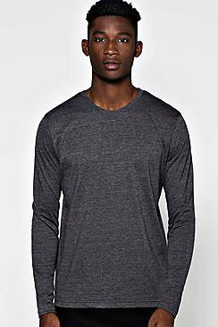 Boohoo Basic Long Sleeve Crew Neck T Shirt
