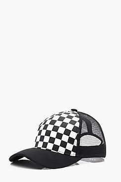 Boohoo Checkerboard Trucker Cap