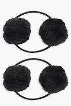 Boohoo Yasmin Pom Hair Band 2 Pack