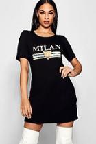 Boohoo Phillis Milan T-shirt Dress
