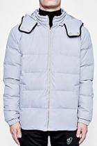 Boohoo Tyga Quilted Jacket With Oversized Hood