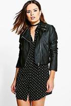 Boohoo Niamh Faux Leather Biker Jacket