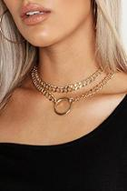 Boohoo Plus O-ring Detail Chain Choker