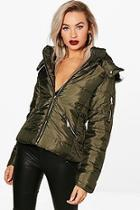 Boohoo Darcy Hooded Padded Jacket