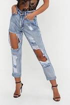 Boohoo Petite Distressed Boyfriend Jeans