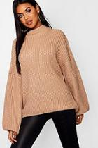 Boohoo Oversized Bell Sleeve Jumper