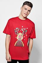 Boohoo Christmas Reindeer T-shirt