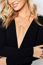 Boohoo Sophie Horn Chain Necklace