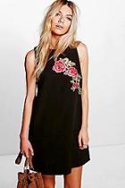 Boohoo Katerina Embroidered Shift Dress