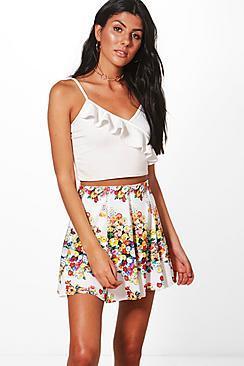 Boohoo Aimee Floral Mini Skirt