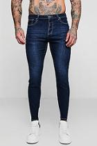 Boohoo Skinny Fit Jeans In Washed Indigo