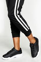 Boohoo Woman Printed Laces Chunky Trainers