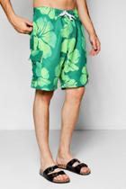 Boohoo Floral Print Bermuda Shorts Green