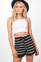 Boohoo Cassia Striped Shorts