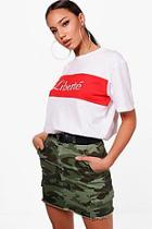 Boohoo Tall Jemima Liberte French Slogan Tee