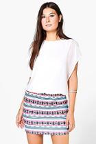 Boohoo Sarah Patterned Chiffon Dress