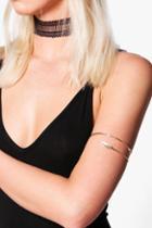 Boohoo Victoria Fine Bracelet Arm Cuff Gold