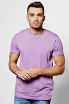 Boohoo Basic Crew Neck T Shirt Lilac