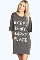 Boohoo Zena Oversized Tshirt Night Dress