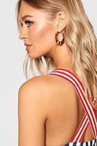 Boohoo Pleated Hoop Earrings