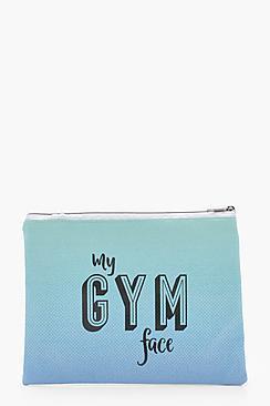 Boohoo My Gym Face Medium Makeup Bag