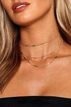 Boohoo Triple Layer Choker Necklace