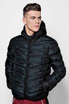 Boohoo Camo Hooded Puffer Jacket