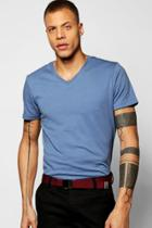 Boohoo Basic V-neck T Shirt Denim