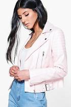Boohoo Boutique Jennifer Faux Leather Biker Jacket