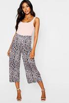 Boohoo Leopard Print Wide Leg Culottes