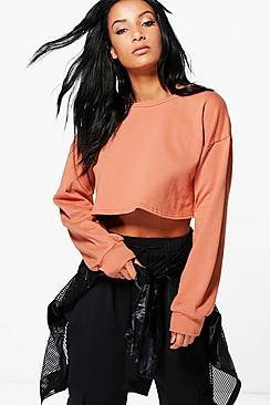 Boohoo Betsy Crop Oversized Sweat