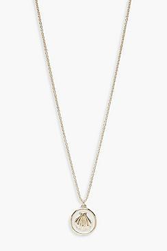 Boohoo Shell & Faux Enamel Necklace