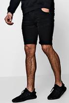 Boohoo Skinny Fit Biker Denim Shorts