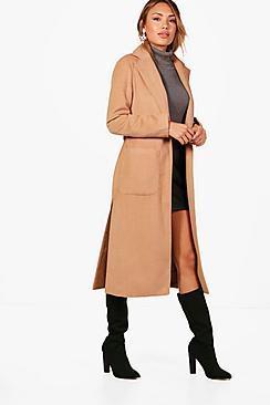 Boohoo Freya Belted Robe Coat