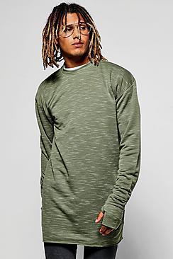 Boohoo Space Sweatshirt With Thumb Holes