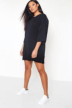 Boohoo Plus Oversized Sweat Dress