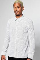 Boohoo Polka Dot Print Longsleeve Shirt