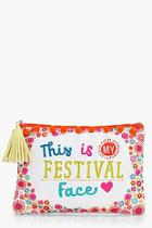 Boohoo Festival Face Pouch