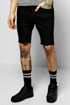 Boohoo Skinny Stretch Denim Shorts Black