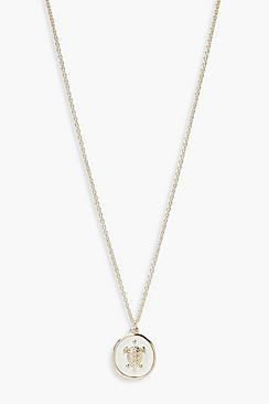Boohoo Turtle Faux Enamel Necklace