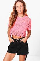 Boohoo Melissa Crochet Crop Top