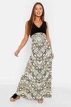 Boohoo Petite Snake Print Maxi Dress