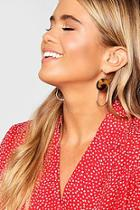 Boohoo Circle & Oval Drop Earrings