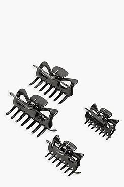 Boohoo Black 2 Pack Hair Clips