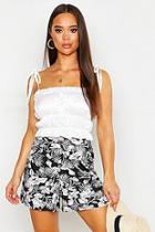 Boohoo Floral Print Flippy Shorts